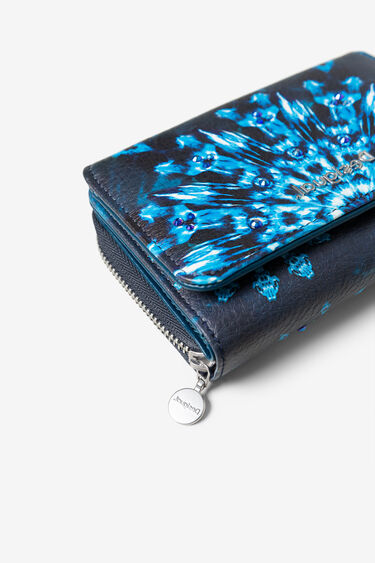 Coin purse with flap, mandalas and rhinestones | Desigual