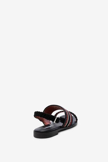 Geborduurde denim sandalen | Desigual
