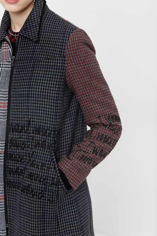 Houndstooth coat   Desigual