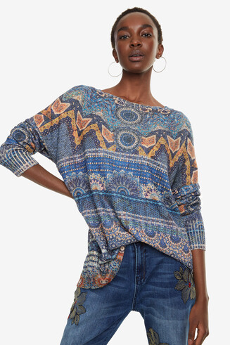Pullover Paisleyprint Leila
