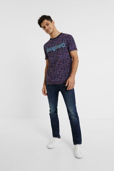 T-Shirt mit Logo aus Denim | Desigual