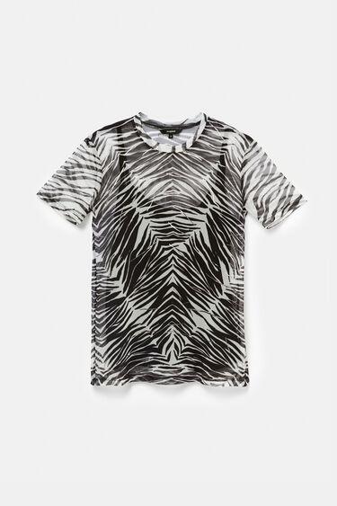 Camiseta transparente de cebra | Desigual