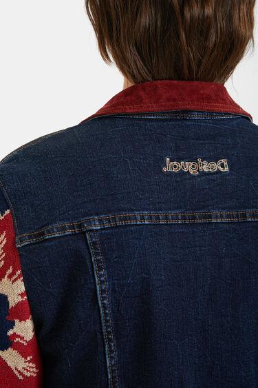 Trucker bimaterial trucker jacket | Desigual