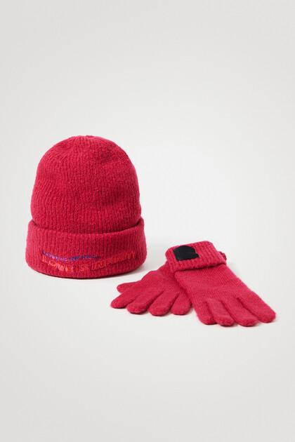 Cadeauset met muts en handschoenen
