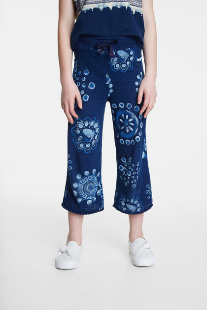 Cropped culottes watercolour mandalas