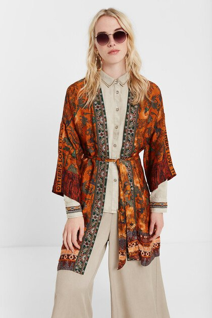 Kimono im afrikanisch inspirierten Safari-Style