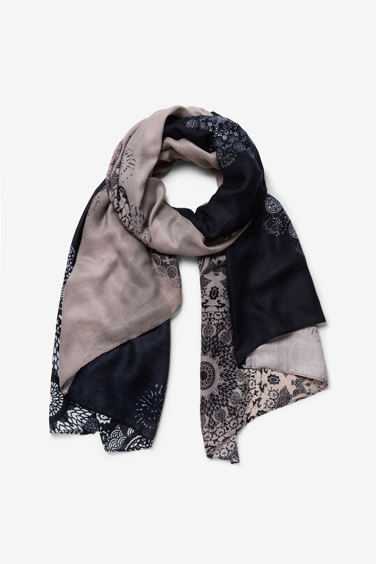 Rectangular patch tones scarf | Desigual