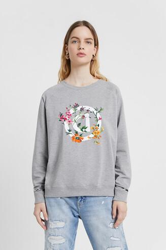 Floral logo sweatshirt
