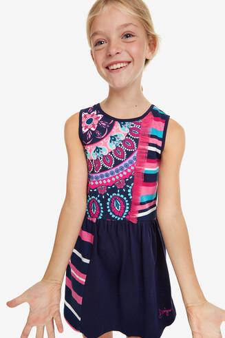 Sleeveless Trapezium Dress Cheyene