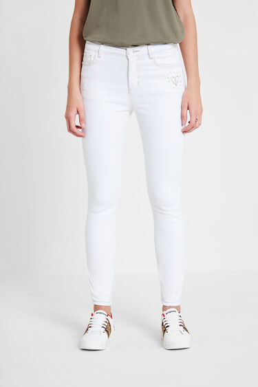 Pantalon en jean skinny coeur   Desigual