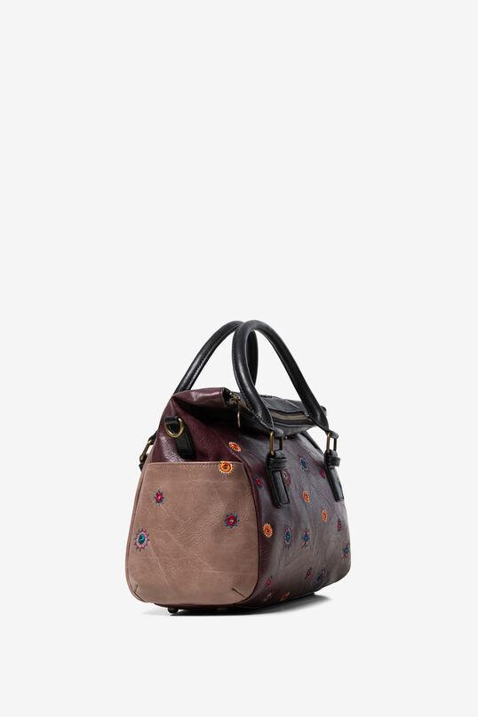 Bicolour briefcase-handbag double handle | Desigual