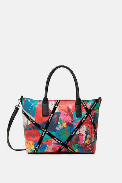 Handtasche mit arty Klecksen