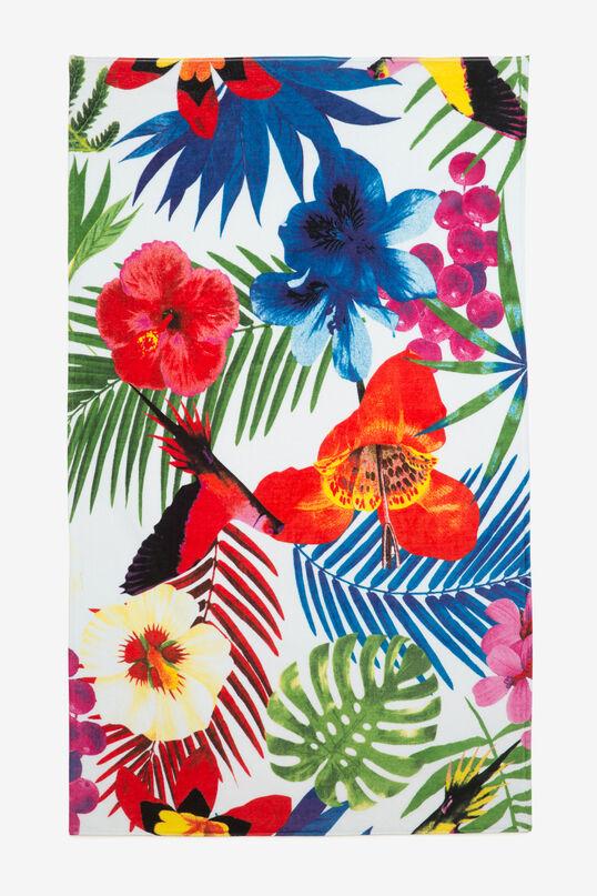 Serviette à print de feuilles Tropical   Desigual