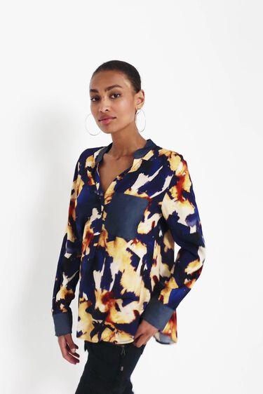 Long sleeve V-neck blouse | Desigual