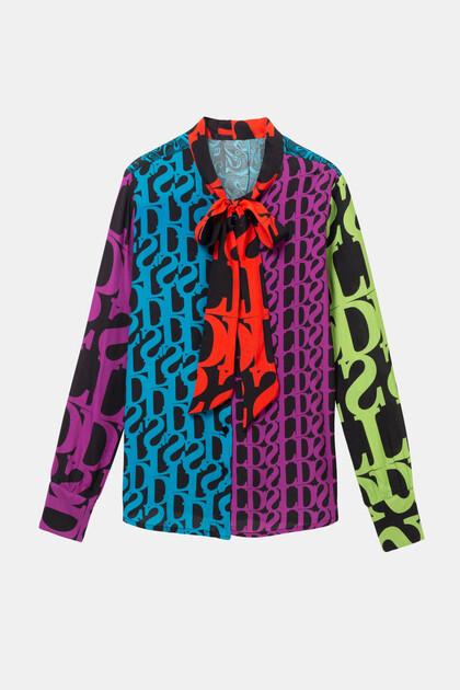 Blusa com laço e logomania Designed by M. Christian Lacroix