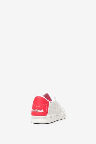 Embossed white sneaker   Desigual