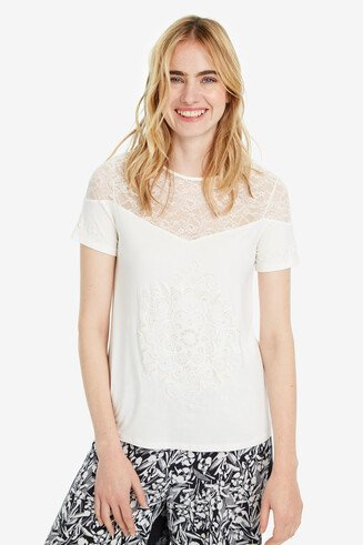 Lacy white T-shirt Cannes