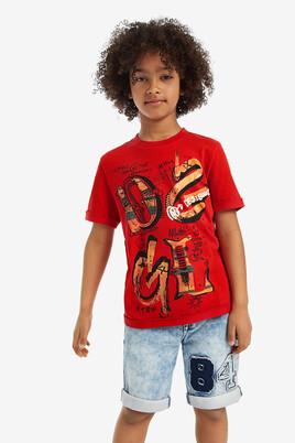 Front print short-sleeved T-shirt