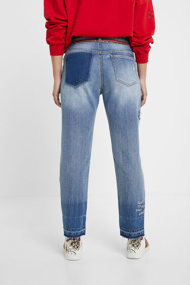Pantalon en jean Boyfriend clous | Desigual
