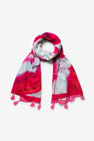 Artistic water colour foulard