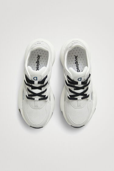 Sneaker chunky similpelle messaggio | Desigual