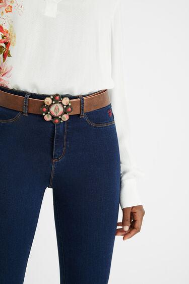 Cinturón reversible flores | Desigual