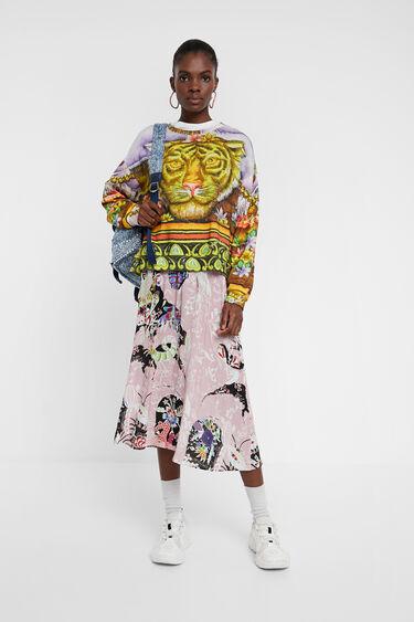 Sweatshirt in Hindoe-stijl met dierenprint | Desigual