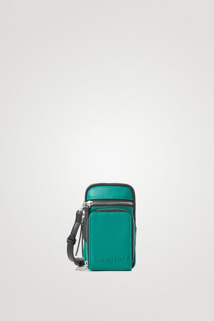 Portemonnaie zum Umhängen in Lederoptik