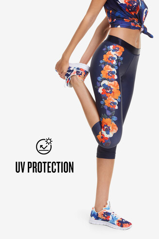 Capri Leggings Camo Flower