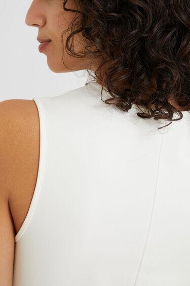 Mouwloze tricot jurk | Desigual