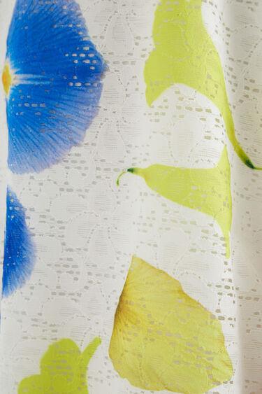 Short dress Swiss embroidery print | Desigual
