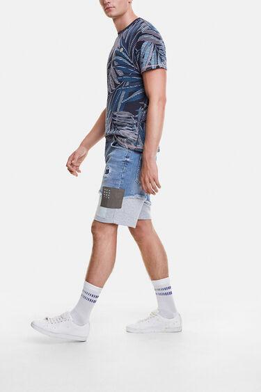 Short denim trousers with plush | Desigual