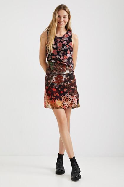 Short dress viscose layers