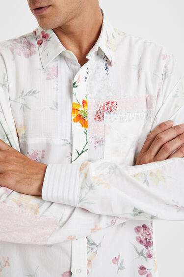 Floral shirt fabric inside out | Desigual