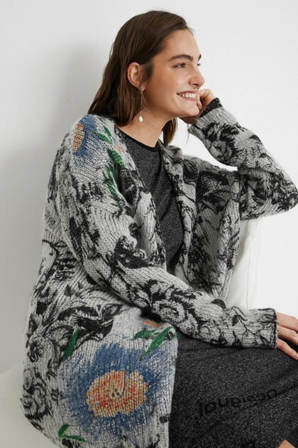 Oversize open tricot jumper