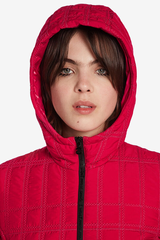 Jaqueta curta padded amb caputxa | Desigual