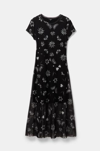 Vestido doble capa de tul
