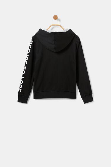 Plush sweatshirt jacket hood | Desigual