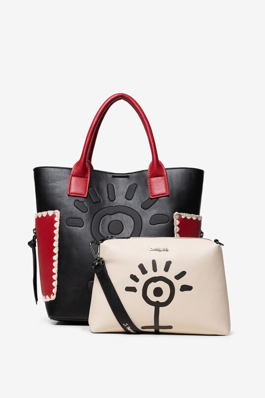 2 in 1 hand bag with cosmetic bag | Desigual