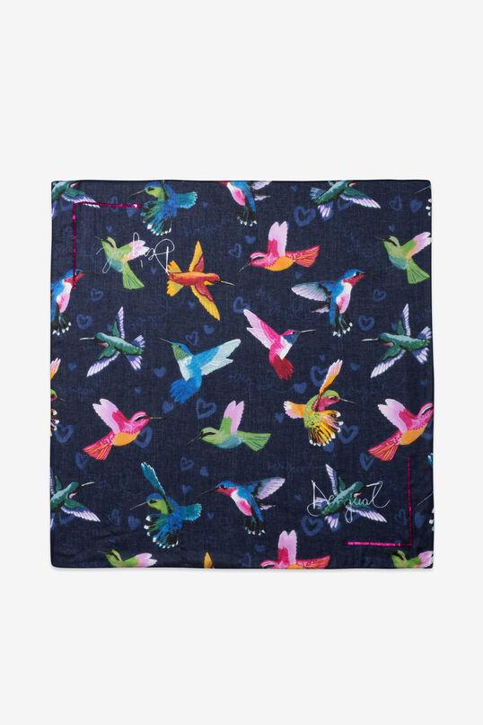 Square scarf coloured hummingbirds | Desigual