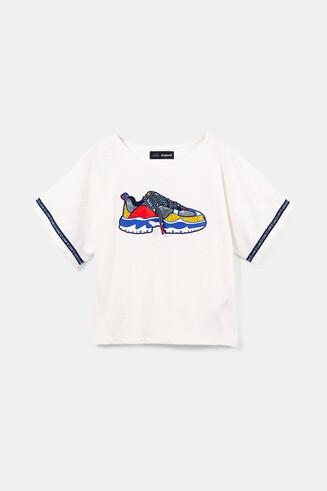 Trompe l'oeil sneaker T-shirt