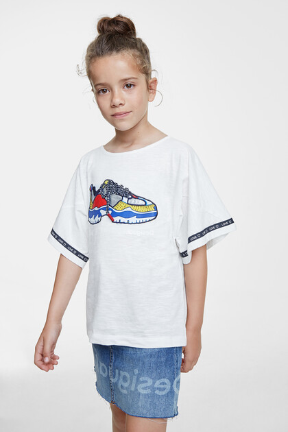 T-shirt Trompe-l'oeil basket