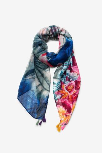 Hawaiian floral foulard