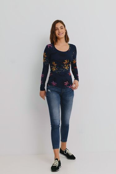 Slim T-shirt flowers | Desigual