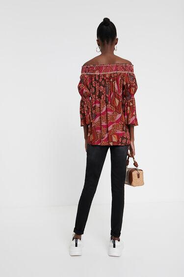 Boho off-shoulder blouse | Desigual