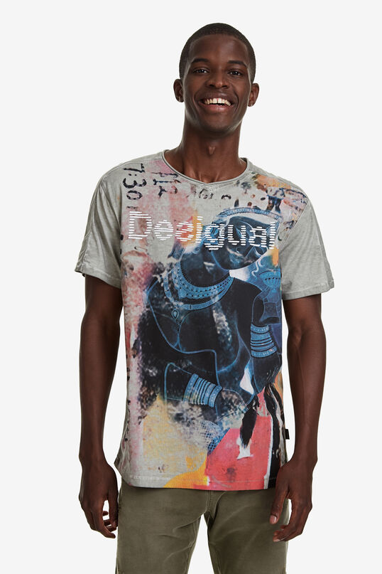 Double V-neck T-shirt | Desigual