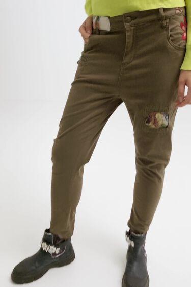 Boyfriend trousers flowers | Desigual