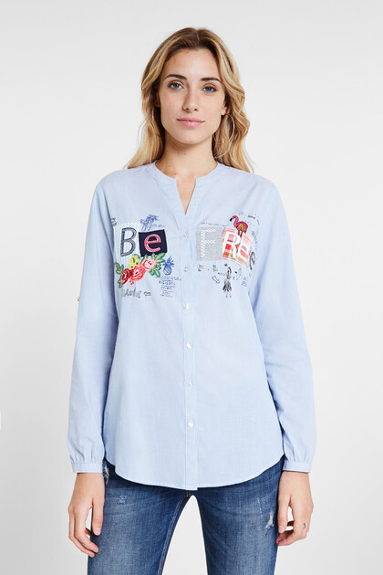 Camisa milratlles patch lettering
