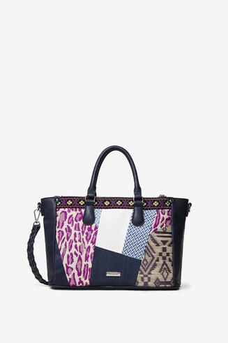 Tasche mit Stoff- und Textur-Patches