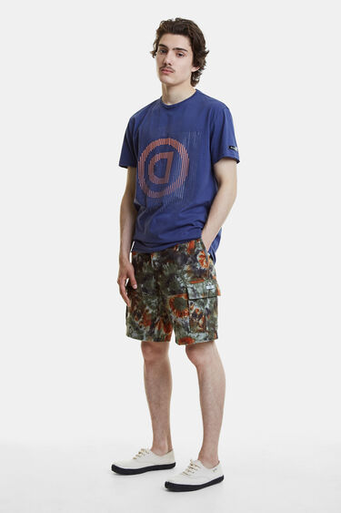 T-shirt pontilhista com logótipo | Desigual